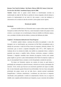Resumo: Nem Tudo Era Italiano - São Paulo e Pobreza 1890-1915. Santos, Carlos José Ferreira dos. São Paulo. Annablume/Fapesp, maio de 2008.