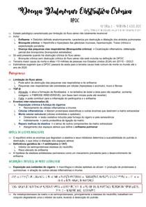 Doença Pulmonar Obstrutiva Crônica DPOC (RESUMO)