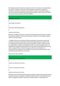 avaliação Final (Objetiva) POLITICAS PUBLICAS