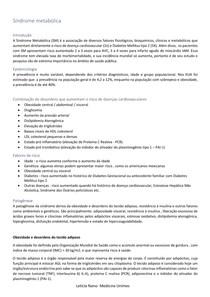 Síndrome metabólica - Endocrinologia clínica