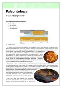 Paleontologia 3.1 - Éons Hadeano, Arqueano, Proterozoico e Fanerozoico