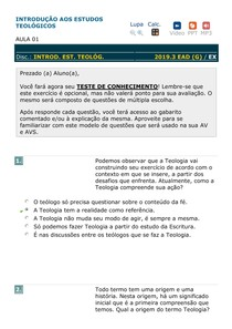 INTRODUÇÃO AOS ESTUDOS TEOLÓGICOS