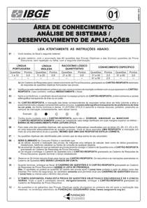 PROVA 01   ANALISE SISTEMAS   DESENVOLVIMENTO DE APLICAÇÕES