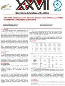 TESTE PARA IDENTIFICAÇÃO DE SINAIS DE DISLEXIA ( COMPARAÇÃO ENTRE TRANSTORNOS DO NEURODESENVOLVIMENTO
