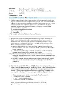 avaliacao I - direito empres e do consumi