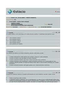 AV1 DIREITO AMBIENTAL 2014.1