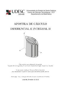 APOSTILA DE CÁLCULO DIFERENCIAL E INTEGRAL II