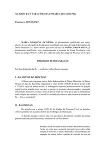 MODELO - Embargos de Declaração - Omissão - Recursos - Código de Processo Civil -