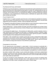 Gestão Financeira - Fichamento