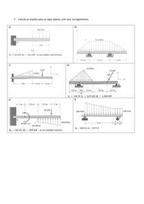 Exercícios mecânica geral 1 - Reações de apoio