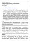 Plano de Ensino - Introdução ao Estudo das Relações Internacionais