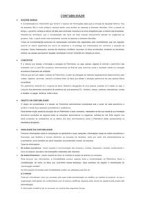 CONTABILIDADE BASICA - RESUMO GERAL COM EXERCICIOS
