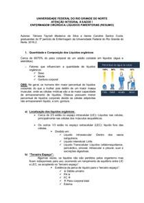 Líquidos Parenterais   Resumo   Atenção I