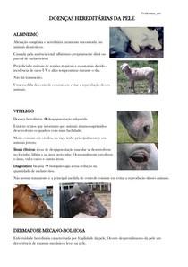 DOENÇAS HEREDITÁRIAS DA PELE DE GRANDES ANIMAIS