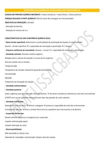 ENDODONTIA SUBSTANCIAS QUIMICAS AUXILIARES CLOREXIDINA HIPOCLORIDO DE SODIO EDTA