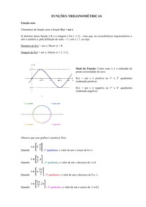 Funcoes Trigonométricas e Inversas