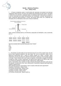Membrana Plasmática - Questões - Revisão de Biologia
