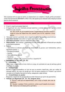 Sujeitos processuais - Processo Penal