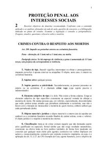 Crimes Contra o Respeito aos Mortos