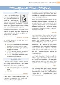 Metabolismo do Ferro e Porfirinas