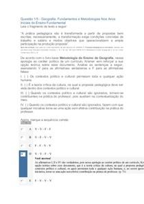 APOL METODOLOGIA DO ENSINO DE GEOGRAFIA NOTA 80