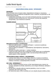 Lesão Renal Aguda - SBCM I