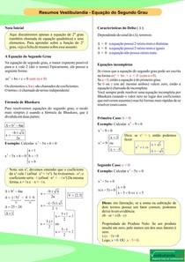 Equação do Segundo Grau - Resumo