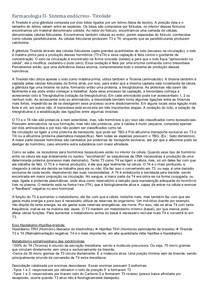 Farmacologia II- Sistema endócrino- Tireóide