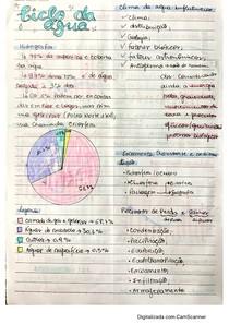 Resumo Manual - Ciclo da Água - Geografia