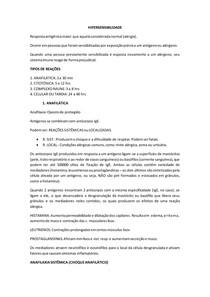 Resumo | Hipersensibilidade