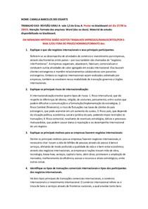 Operações Internacionais - Negócios Internacionais