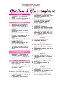Glicólise e glicogênese