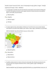 Estudo Transversal (17578) - Leitura e Interpretação de mapas, gráficos e imagens - Avaliação I (Objetiva) - Engenharia de Produção 2019.2 Uniasselvi