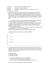 Avaliação II - Individual FLEX ( Cod.:405027)