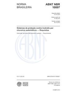 NBR 10897  2014 Chuveiros automáticos sprinklers