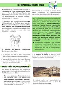 RESUMO - Reforma Psiquiátrica no Brasil