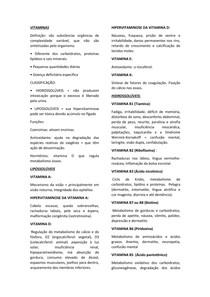 Vitaminas - bioquímica