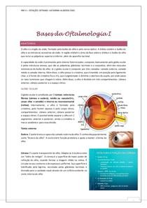 Bases da Oftalmologia I