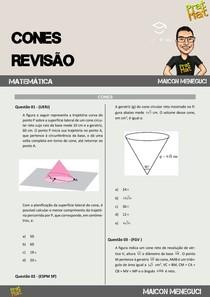 20 QUESTÕES DE CONES