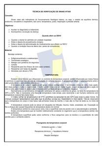 APOSTILA TÉCNICA DE VERIFICAÇÃO DE Sinais Vitais (SSVV)