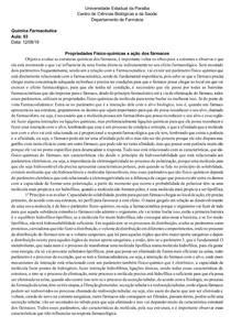 AULA 03 Propriedades Físico-químicas de fármacos