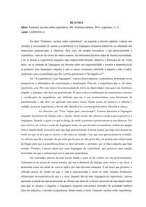 Tremores: escritos sobre experiência - LARROSA, J. (Resenha)