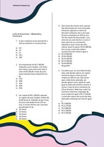 LISTA DE MATEMATICA FINANCEIRA ( COM GABARITO)