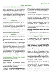Artrite reumatóide resumo