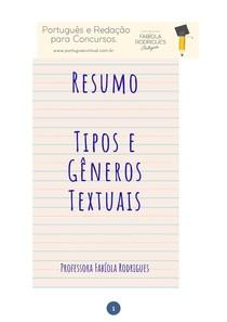 Tipos e Gêneros Textuais - Resumo