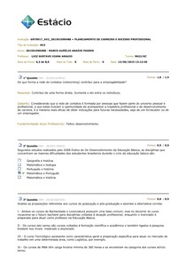 Planejamento de Carreira - AV2 2015.2