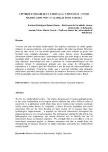 Artigo sobre EAD e inteculturalidade