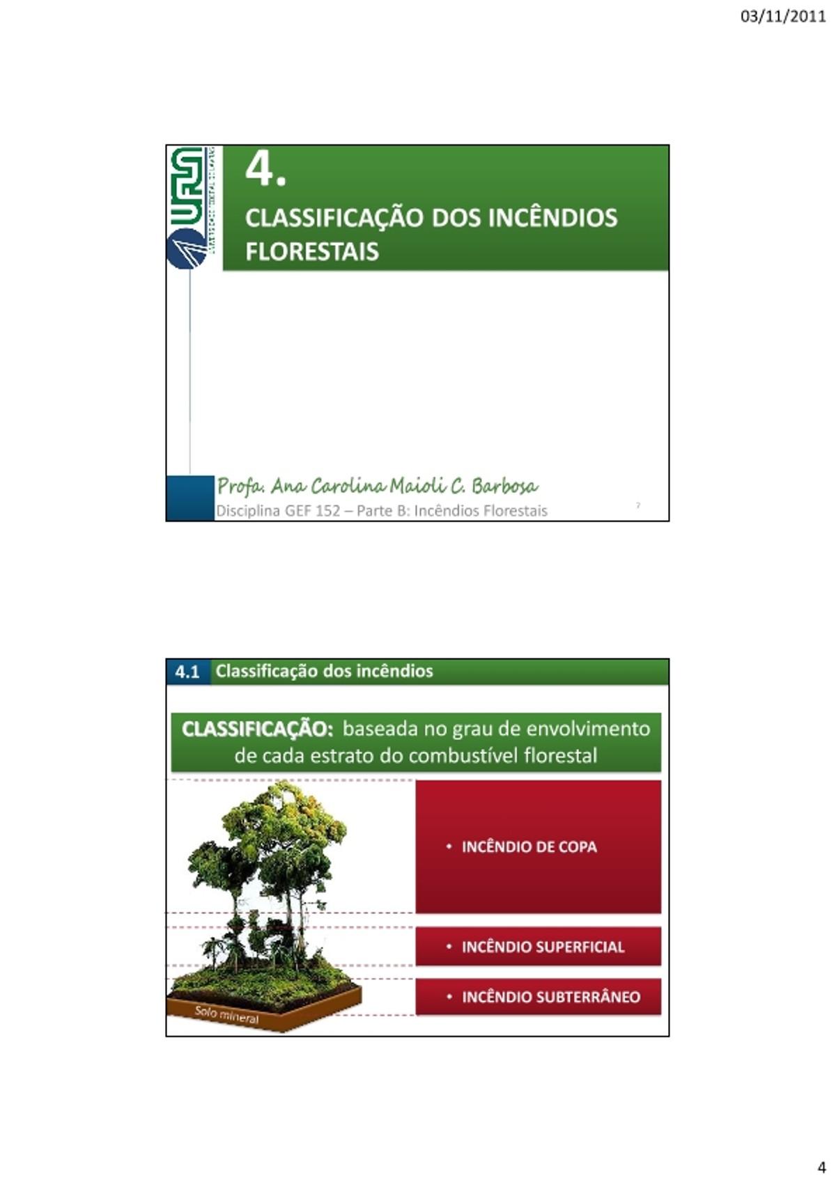 Pre-visualização do material Aula 4 Classificacao - página 1