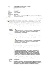 ADMINISTRAÇAO DE CARGOS E SALÁRIOS quest.IV