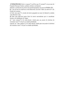 (UNIPAR PR/2002) Sobre a composição política que dá sustentação ao governo de Fernando Henrique Cardoso, podemos afirmar corretamente: